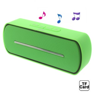 Green Y8 Portable Super Bass Bluetooth Speaker with MIC Support FM / U Disk / TF Card / AUX-input