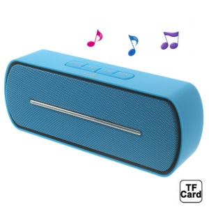 Blue Y8 Portable Super Bass Bluetooth Speaker with MIC Support FM / U Disk / TF Card / AUX-input