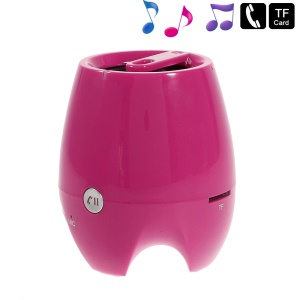 D-93B Stereo Bluetooth Wireless Speaker w/ Mic Support TF Card Aux-input - Rose
