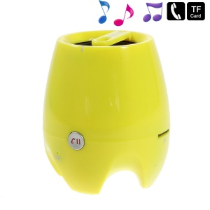 D-93B Stereo Bluetooth Wireless Speaker w/ Mic Support TF Card Aux-input - Yellow