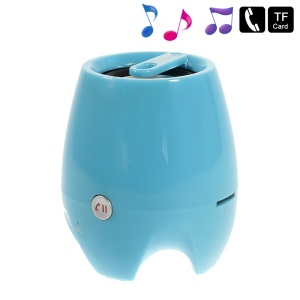 D-93B Stereo Bluetooth Wireless Speaker w/ Mic Support TF Card Aux-input - Blue