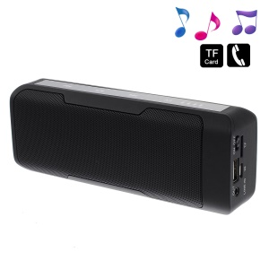 Black J6 2 in 1 Stereo Bluetooth Wireless Speaker w/ Mic + 4000mAh Power Bank for iPhone Samsung HTC