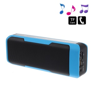 Blue J6 2 in 1 Stereo Bluetooth Wireless Speaker w/ Mic + 4000mAh Power Bank for iPhone Samsung HTC