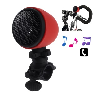 Splash-proof Wireless Bluetooth Bicycle Tube Mount Speaker with Mic - Red