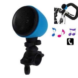 Splash-proof Wireless Bluetooth Bicycle Tube Mount Speaker with Mic - Blue