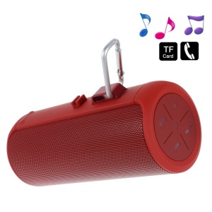 Red AJ-90 Wireless Mini Bluetooth Speaker, Support Mic / U-Disk / TF Card / 3.5mm Audio Input