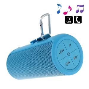 Blue AJ-90 Wireless Mini Bluetooth Speaker, Support Mic / U-Disk / TF Card / 3.5mm Audio Input