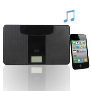 Multi-function Ultra-thin Mini Speaker for iPhone MP3/MP4 with FM Clock
