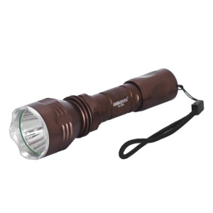 GuoLin GL-K56 CREE XM-L T6 LED Flashlight Torch + 18650 Battery + Charger - Coffee