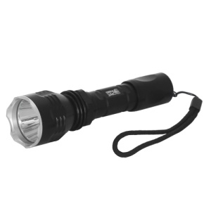 GuoLin GL-K56 CREE XM-L T6 LED Flashlight Torch + 18650 Battery + Charger - Black