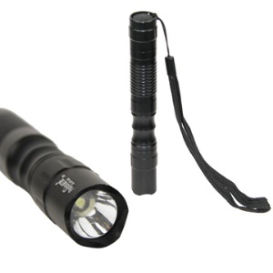 3W Pailide Mini Detachable Flashlight 1xAA/2xAA Extendable(GL-037-43B) - Black