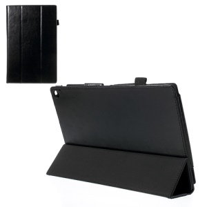 Crazy Horse PU Leather Tri-fold Stand Case for Nokia Lumia 2520 10.1-inch RX-114 - Black
