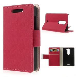Rose Maze Design Protective Leather Wallet Case for Nokia Asha 502 Dual SIM
