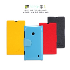 NILLKIN Fresh Series Slim Protective Leather Case Cover for Nokia Lumia 520