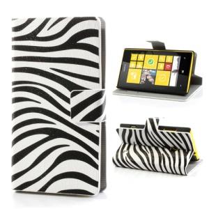 Zebra Folio Leather Wallet Case Cover for Nokia Lumia 520 525