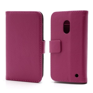 Wallet Leather Stand Case Cover for Nokia Lumia 620 - Rose