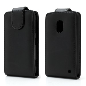 Black Magnetic Vertical Crazy Horse Leather Case Cover for Nokia Lumia 620