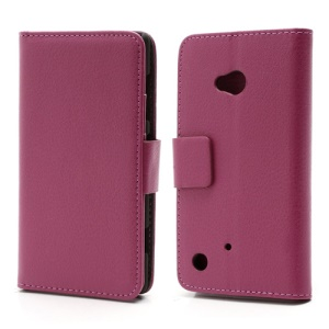 Folio Leather Wallet Case Cover w/ Stand for Nokia Lumia 720 - Rose