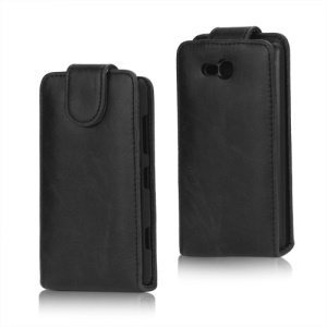 Crazy Horse PU Leather Case Cover for Nokia Lumia 820 - Black