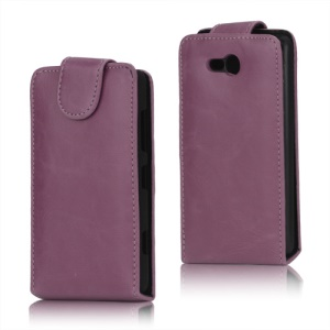 Crazy Horse PU Leather Case Cover for Nokia Lumia 820 - Pink