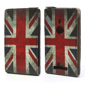 Vintage UK Flag Vertical Leather Case for Nokia Lumia 925