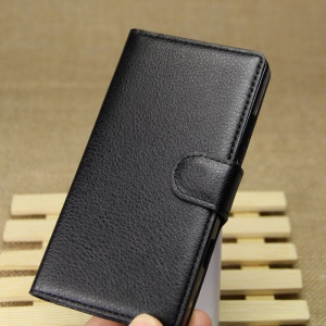 Litchi Grain Leather Wallet Case for Nokia Lumia 930 / Lumia Icon 929 - Black