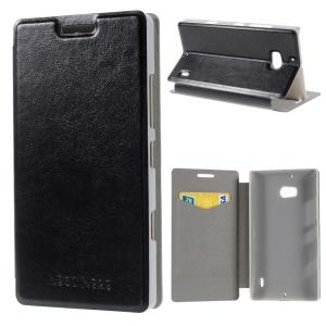 Black Crazy Horse PU Leather Case with Stand for Nokia Lumia 930 / Lumia Icon 929