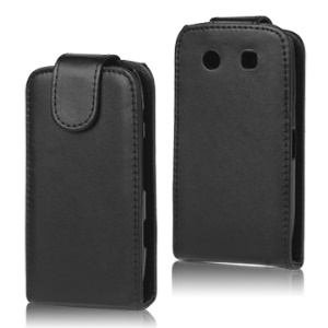 Vertical Leather Case with Magnetic Flip for BlackBerry Torch 9860