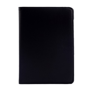 Rotary Stand Litchi Texture Leather Flip Case for Xiaomi MiPad A0101 - Black