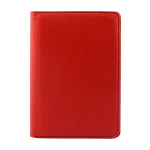 Rotary Stand Litchi Texture Leather Flip Shell for Xiaomi MiPad A0101 - Red