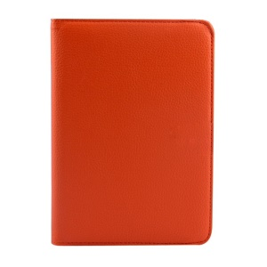 Rotary Litchi Texture Leather Stand Case for Xiaomi MiPad A0101 - Orange