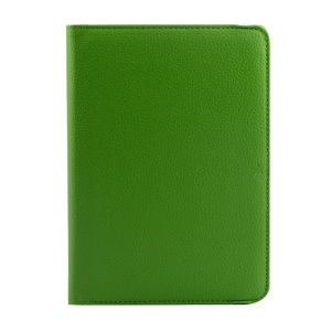Rotary Litchi Texture Leather Stand Cover for Xiaomi MiPad A0101 - Green