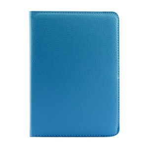 Rotary Litchi Texture Leather Stand Shell for Xiaomi MiPad A0101 - Light Blue