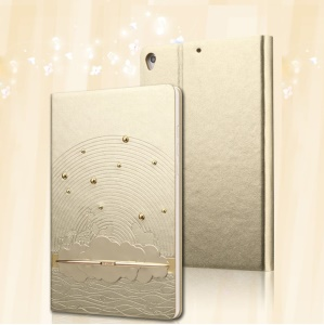 USAMS Starry Sea Series Smart Leather Stand Cover for Xiaomi MiPad A0101 - Gold