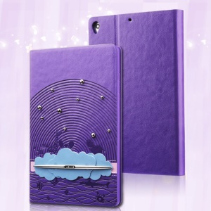 USAMS Starry Sea Series Stand Leather Smart Case for Xiaomi MiPad A0101 - Purple