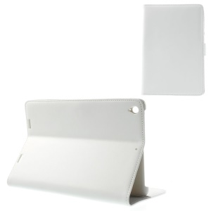 Doormoon Genuine Leather Flip Wallet Tablet Cover for Xiaomi MiPad A0101 - White