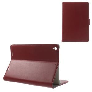 Doormoon Genuine Leather Flip Wallet Stand Cover for Xiaomi MiPad A0101 - Red