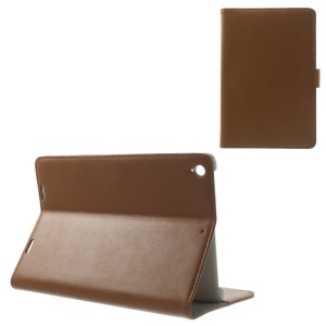 Doormoon Genuine Leather Flip Case Card Holder for Xiaomi MiPad A0101 - Brown