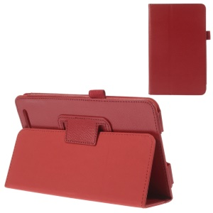 Red Durable Folio Stand PU Leather Cover for Acer Iconia Tab 7 A1-713