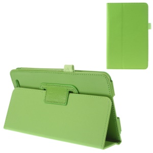 Green Folio Stand PU Leather Protective Case for Acer Iconia Tab 7 A1-713