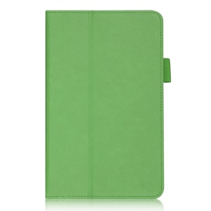 Green Folio Stand PU Leather Cover w/ Hand Strap & Card Slots for Acer Iconia Tab 7 A1-713