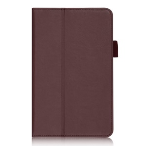 Brown Folio Stand PU Leather Shell w/ Hand Strap & Card Slots for Acer Iconia Tab 7 A1-713