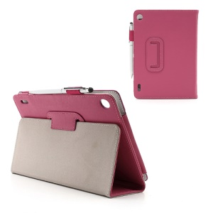 Slim Folio Leather Cover Stand with Stylus Touch Pen for Acer Iconia Tab A1-810 7.9-inch - Rose
