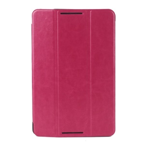 Rose Crazy Horse Texture Tri-fold Smart Leather Shell for Lenovo IdeaTab A8-50 A5500