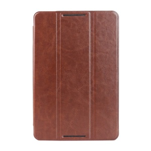Brown Crazy Horse Texture Tri-fold Smart Leather Magnetic Shell for Lenovo IdeaTab A8-50 A5500