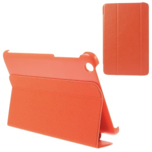 For Lenovo IdeaTab A8-50 A5500 Tri-fold Magnetic Stand PU Leather Cover - Orange