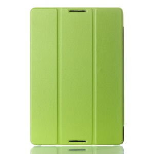 Green Textured Tri-fold Smart Leather Stand Case for Lenovo IdeaTab A10-70 A7600