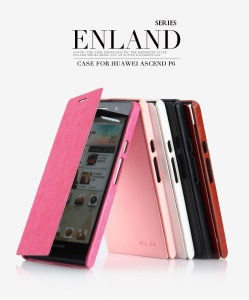 KLD England Series Stand Leather Case Cover for Huawei Ascend P6