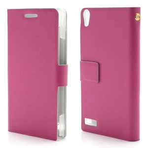 Doormoon Genuine Leather Wallet Style Case for Huawei Ascend P6