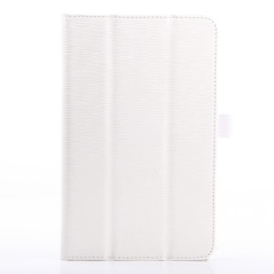 White Horizontal Tree Bark Grain Flip Leather Stand Cover for Acer Iconia B1-720